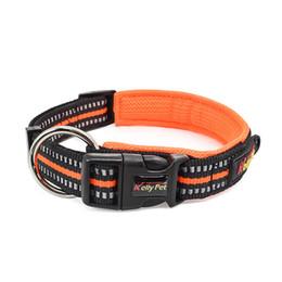 Collares de nylon reflectantes para perros online-Collar de nylon ajustable collares de perro acolchado reflectante para el entrenamiento del perro Collar de perro cómodo al aire libre para mascotas