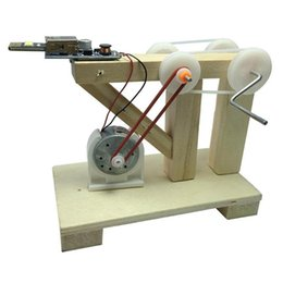 20 UNIDS DIY Ensamblar Juguetes Dinamo Generador Modelo Madera Invención Ciencia Experimento Físico Niños Juguetes Educativos Creativos AIJILE desde fabricantes