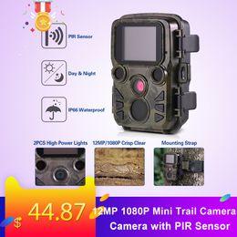 2019 cámara oculta al aire libre 12MP 1080P Mini Trail Cámara Juego de caza Cámara de exploración de vida silvestre al aire libre con sensor PIR 0.45s Disparador rápido IP66 Impermeable