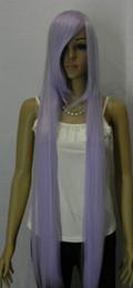 длинный светло-фиолетовый парик Скидка Cos Light Purple Длинный ПРЯМОЙ Косплей Полный Парик