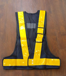 pvc vest Скидка Yemingduo Работник Дорожного Движения Светоотражающие Сетки Жилет Высокая Светлая Отражательная Лента PVC Защитная Одежда T190622
