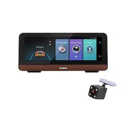 Monitor dobrável on-line-8 '' 4G Android Car Espelho Retrovisor Monitor Carro DVR Folding Recorder Camcorder