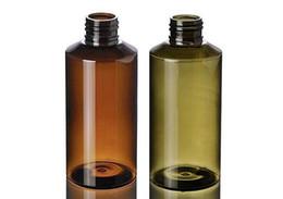 frascos de cosméticos pet âmbar Desconto 300 PCS 100 ml de Plástico Garrafas de Tampão de Rosca Shampoo de Viagem Loção Recipiente Cosmético Verde / Âmbar Garrafas PET vazio kits de viagem