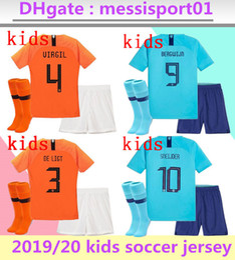 2019/20 Çocuk hollanda Futbol Formaları çocuklar kiti üniforma seti camisa de futebol hollanda VIRGIL DE JONG MEMPHIS Futbol gençlik maillots kitleri supplier holland soccer jerseys nereden hollanda futbol formaları tedarikçiler