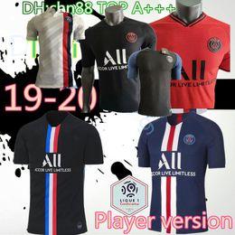 2019 mejor camiseta de futbol blanca S-2XL Player versión PSG camiseta de fútbol 2019 2020 DI MARIA Mbappé CAVANI Verratti 19 20 hogar lejos tercera camiseta de fútbol