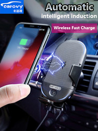 2019 timer turbo Nuevo 15 vatios Qi cargador de coche inalámbrico estándar de inducción inteligente automática para ventilación de aire salpicadero soporte para teléfono soporte automático con sujeción con iphone