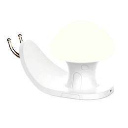 2019 schneckentelefon BRELONG USB Lade Nachtlicht bunte RGBW Schneckenhaus Handy Halterung Kind Touch Schalter Wohnzimmer Schlafzimmer einstellbare Helligkeit rabatt schneckentelefon