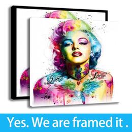 2020 marilyn monroe retrato pintura Decoración para el hogar Pintura Mujer Retrato Arte Marilyn Monroe Impresión en lienzo HD - Ready To Hang - Enmarcada marilyn monroe retrato pintura baratos