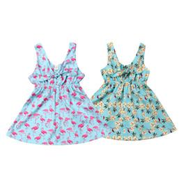 Repartir vestidos online-2019 Nueva Hot-deal Kids Baby Girl Summer Dress Princess Party Wedding Tutu Vestidos Moda de Verano Vestidos Casuales