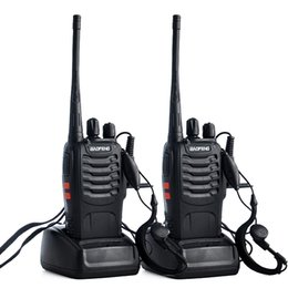 2019 walkie talkie 2pcs 2pcs Baofeng BF-888s stazione radio walkie-talkie UHF 400-470MHz 16CH 888s CB Radio talki walki bf-888s ricetrasmettitore portatile walkie talkie 2pcs economici