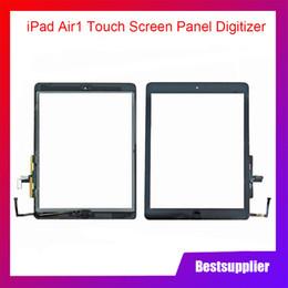 dh inch tablet Rabatt Für iPad Air 1 iPad 5 A1474 A1475 A147 Touchscreen-Digitizer-Baugruppe mit Home-Taste und 3M-Klebstoffersatz