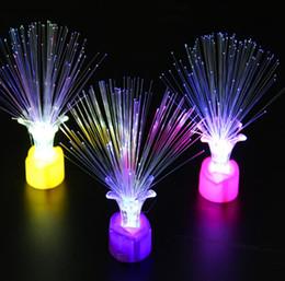 0.7 DHL Plum Blossom Night Lamp Colorful Rose fibra ottica fiore ha portato il regalo di giocattoli emettitori di luce da