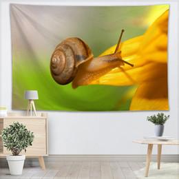 Snail Animal Tapestry Wall Hanging Decor Home Decorazioni per feste di compleanno Arazzi in tessuto Tenda da campeggio Travel Sleeping Pad da
