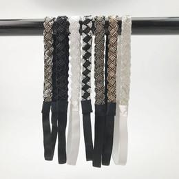 Granos étnicos de colores de la venda de la vendimia geométrica de cristal flor trenzada Hairband Elástico diadema banda de pelo accesorios HR8262 desde fabricantes