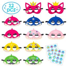 2019 traje de batman de tamanho Felt Baby máscara de tubarão raposa crianças dos desenhos animados máscara de óculos de festa de brinquedo suprimentos feltro máscara Masquerade Dança suprimentos meias máscaras FFA2518
