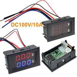 dc amp-lehren Rabatt Auto-Rot Blau-LED DC 0-100V / 10A Motorrad Digital-Amp Meter Volt Panel Meter-Messgerät Amperemeter Voltmeter digital