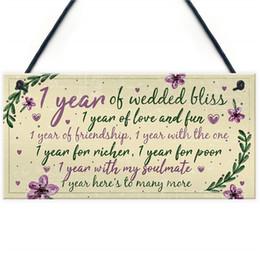 Canada 1er cadeau de carte d'anniversaire de mariage pour un mari, première année, pour elle Offre