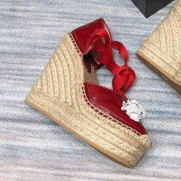 2019 sandalias dedos del sexo Plataforma sandalias mujer diseñador sandalias terciopelo Plataforma de cuero Alpargata Altura del tacón 12 cm plataforma plataforma 2.5 cm modelo 35-40 Modelo LXF01