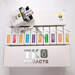 Argentina El más nuevo TKO extrae el cartucho vacío de Vape que empaqueta 0.8ml 1ml Cigarrillos electrónicos de cerámica Dab Pen Vaporizador para vidrio grueso Aceite 510 Batería supplier electronics packages Suministro
