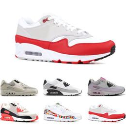 6076e246e0a flagge schuhe männer Rabatt Nike air max 90 Laufschuhe für Herren Infrarot  International Flag Pack dreifach