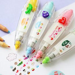Etichette dolci online-Penna a nastro floreale dolce adesivo divertente per bambini cartoleria decor nastri adesivi etichetta adesiva correzione nastro di carta C621