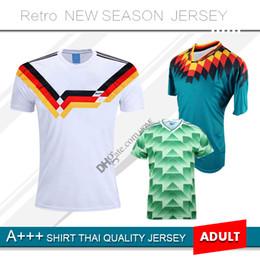 1988 1990 Alemania Camisetas de fútbol retro 1994 Fútbol Camisa Deutschland en casa # 18 KLINSMANN # 10 Camiseta de fútbol Matthias desde fabricantes
