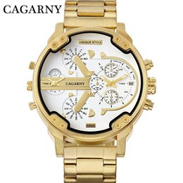 Wholesale Cagarny Brand Luxury Watch Men Gold Steel Bracelet Strap Quartz Watches Good Quality Male Wristwatches Fashion Brand Natate J190715