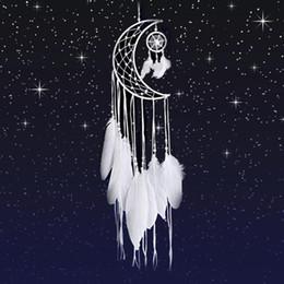 decoración casera artesanía hecha a mano Rebajas Colector ideal Luna Mini arte hecho a mano Inicio Decoración colgante de habitaciones ornamento del coche niñas decoración de la habitación Dreamcatcher