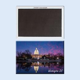 Paesaggistica unita online-Home Decor Fridge Magnets nights Washington DC Gli Stati Uniti 22595 Paesaggio Magnetico frigorifero regali per gli amici