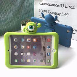 "Mini caso de cáscara suave del ipad online-Childrens 3D Kids Cute Cartoon Case para Ipad Mini 1 2 3 4 Tableta de silicona suave contraportada Protetcive Shell 7.9 ""pulgadas"