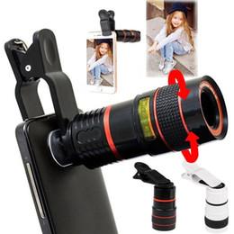 Appareil photo à zoom optique en Ligne-Mode Mobile Universel Téléphone Portable HD 8X Clip sur Zoom Optique Télescope Lentille Nouvelle Téléphonie Mobile Accessoires