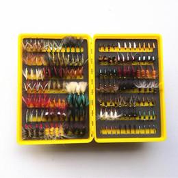 Ücretsiz Kargo 168 adet sinek plastik kutu ile kuru ve ıslak sinek lures Alabalık lures sineği balık yemi sahte cazibesi olta ... cheap soft trout baits nereden yumuşak alabalık yemleri tedarikçiler