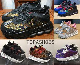 Toptan yüksek kalite Zincir Reaksiyon gizlice tasarımcı Sneakers Erkek Kadın spor koşu deri Rahat Ayakkabılar Eğitmen Hafif taban cheap mens sneaker wholesale nereden mens spor ayakkabı toptan ticareti tedarikçiler