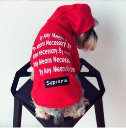 Abbigliamento all'ingrosso di marca online-Felpe con cappuccio per cani all'ingrosso Tide Brand Cute Teddy Puppy Schnauzer Apparel Autunno Inverno Outwear caldi Piccolo cane maglione Abbigliamento S -2xl