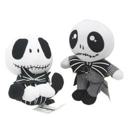 Jack skellington en Ligne-Le cauchemar avant Noël Jack Skellington Sally noir squelette crâne en peluche jouet en peluche poupée Halloween cadeau