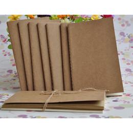 libro vuoto hardcover Sconti Kraft Notebook 8.8 * 15.5cm Notebook in blocco Kraft Brown Pagine vuote per studenti Studenti e Scrittura di libri da ufficio