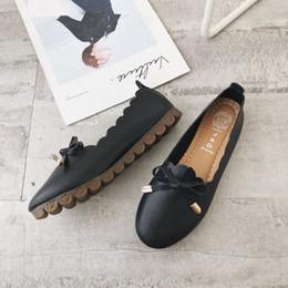 2019 infirmières chaussures en caoutchouc Fairy2019 Bow Single Doug Chaussure Infirmière Petite Bordure Blanche Chaussures Fond Textile Caoutchouc infirmières chaussures en caoutchouc pas cher