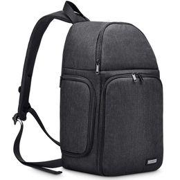 2019 bolso de la cámara de la honda Caden Camera Bag Sling Backpack, Funda para cámara resistente al agua con insertos modulares Soporte para trípode para cámaras réflex / réflex y sin espejo bolso de la cámara de la honda baratos