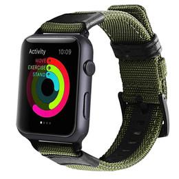 Banda de relógio de nylon on-line-Para a apple watch band strap pulseira tecido pulseira de nylon para iwatch series 1 2 3 banda pulseira de tecido macio pulseira de embutir adaptador