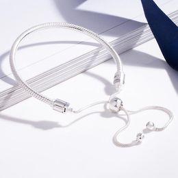 New MOMENTS Armband authentischen 100% 925 Sterlingsilber-Schlange-Ketten-Armband-Armband für Frauen Luxuxschmucksachen von Fabrikanten