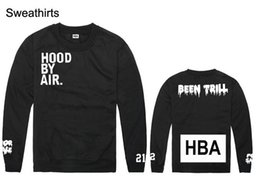 Hood hoodies on-line-Wholesale-HOOD BY AIR mens womens hoodies and sweatshirts HBA star mountain print Cotton Hip hop Casual Pullovers Fashion Discount Sale
