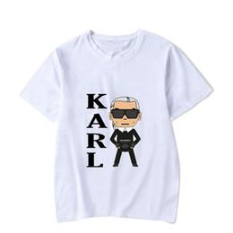 Diseñador Rock Karl Imprimir Casual Hombres Camisetas Adolescente de manga corta O cuello Lagerfeld Moda Tops Hot desde fabricantes