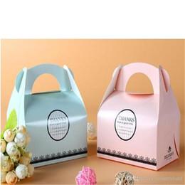 scatole di biscotto blu all'ingrosso Sconti Commercio all'ingrosso libero 050503ayq di trasporto di blu di Pinkk dei contenitori per dolci della mousse dei contenitori per dolci della panetteria della pasticceria portatile