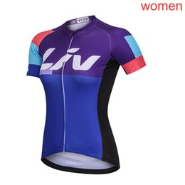 liv cycling jerseys Promo Codes - 2019 summer Pro team LIV cycling jersey Women short sleeve Quick dry Racing Clothing MTB Bicicleta Maillot Mountain bike shirts F60342