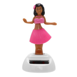 2019 accesorios para bailar Dancing Girl Car Ornament Solar Swinging Beach Girl Dashboard Decoration Auto Interior Accessories Car-styling EEA261 rebajas accesorios para bailar