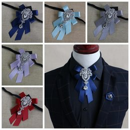 Homens Arco Gravata do noivo Acessórios de Roupas Cor Sólida Cavalheiro Camisa Neck Tie Bowknot Diamante De Cristal Decoração de casamento presente de Fornecedores de camisas de algodão por atacado