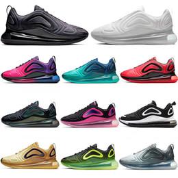 Refrigeración ligera online-NIKE AIR MAX 720 Zapatillas deportivas para hombre deportivas para hombre Triple Negro Blanco Northern Lights Pink Sea EQUIPO CRIMSON CARBONO GRIS Cómodos entrenadores de diseño