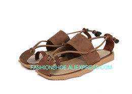 e63b2f3fd782 Brown Fishermen Flip flops Summer Slippers Rome Style Men Beach Gladiators Male  Sandals