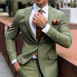 vestito di lana di prom Sconti Ultimi Peak Design Prom Party Uomo Abiti da sposa per uomo Blazer Smoking dello sposo 2 Pezzi Terno Masculino Wool Blend Jacket Costume Homme