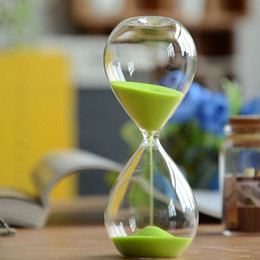 Argentina Moda arena reloj de arena 5 minutos reloj de arena Contador de tiempo Cuenta atrás Temporizador Reloj de cristal Regalo creativo Decoración para el hogar Color Aleatorio cheap time counter Suministro